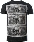 Philipp Plein Dollar and Skull Print Tshirt - Lyst