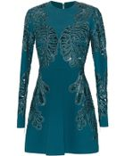 Elie Saab Embroidered Cady Cutout Dress - Lyst