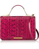 Emilio Pucci Leather-Paneled Elaphe Shoulder Bag - Lyst