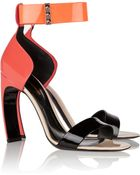 Nicholas Kirkwood Color-Block Patent-Leather Sandals - Lyst