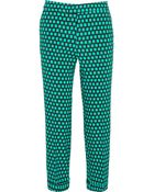Etro Cropped Printed Stretch-Faille Straight-Leg Pants - Lyst