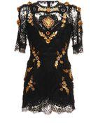 Dolce & Gabbana Valencienne Lace Dress - Lyst