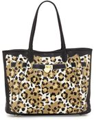 Betsey Johnson Leopard-Print Illusion Tote Bag - Lyst