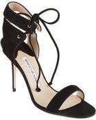 Manolo Blahnik Laramod Ankle-Strap Sandals - Lyst