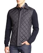 Ferragamo Quilted Shirt Jacket - Lyst