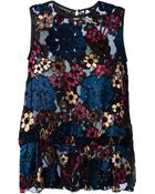 Rochas Floral Pattern Sheer Vest - Lyst