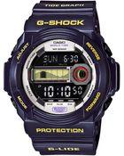G-Shock Men'S Digital Tide Graph Purple Resin Strap Watch 52X55Mm Glx150B-6 - Lyst