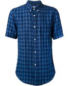 Band of Outsiders Checked Shirt - Lyst
