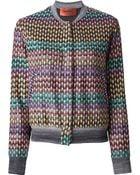 Missoni Pip Crochet Bomber Jacket - Lyst