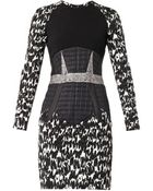 Antonio Berardi Multipanel Jacquard Dress - Lyst