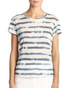 Ralph Lauren Black Label Whitney Linen Stripe Tee - Lyst