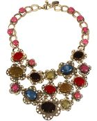 Betsey Johnson Multi Color Bead Bib Statement Necklace - Lyst