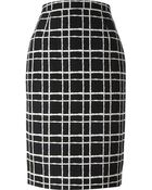 DSquared2 Checked Pencil Skirt - Lyst