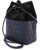 Reece Hudson Haircalf Bowery Small Bucket Bag - Ink/Black - Lyst