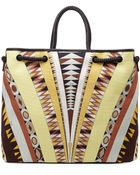 Emilio Pucci Printed Ribbons Small Canvas Tote - Lyst