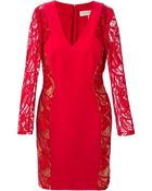 Emilio Pucci Lace Panel Dress - Lyst