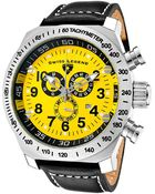 Swiss Legend Men'S Sl Pilot Chronograph Yellow Dial Black Leather - Lyst