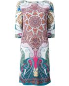 Etro Paisley Print Shift Dress - Lyst
