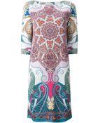 Etro Paisley Print Shift Dress - Lyst