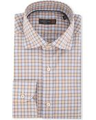 Corneliani Checked Slim-Fit Shirt - For Men - Lyst