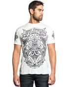 Affliction Corroded Graphic Tshirt - Lyst