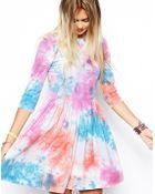 Asos Skater Dress in Tie Dye - Lyst