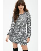 Forever 21 Lace Print Dress - Lyst