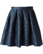 Charlott Pleated Baroque Mini Skirt - Lyst