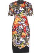 Fendi Embellished Crepe Dress - Lyst