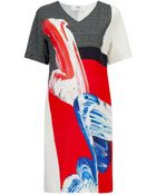 Prabal Gurung Paint Print Shift Dress - Lyst