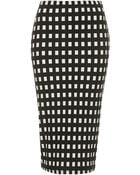 Topshop Tall Gingham Tube Skirt - Lyst