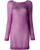 Craig Lawrence Loose Knit Shift Dress - Lyst