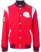 Maison Kitsuné 'Teddy' Baseball Jacket - Lyst