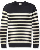 Saint Laurent Striped Cashmere Sweater - Lyst