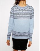 Asos Holidays Sweater In Fairisle Knit With Mohair - Lyst