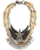 Venna Spiked Star Collar Necklace - Lyst