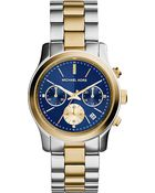 Michael Kors Mk6165 Runway Yellow Gold-Plated And Stainless Steel Watch - For Women - Lyst