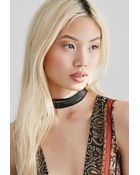 Forever 21 Layered Leather Choker - Lyst