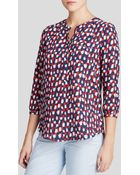 Nydj Abstract Dot Print Blouse - Lyst