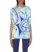 Emilio Pucci All Over Print Jersey Top - Lyst