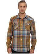 Levi's Datsun Yarn Dyed Indigo Slub Twill L/S Shirt - Lyst