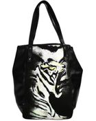Just Cavalli Handbag Tiger Printed Leather Shopping Bag - Lyst