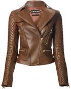 Tom Ford Wide Collar Biker Jacket - Lyst