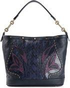 Borbonese Patchwork Design Tote Bag - Lyst