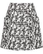 Oscar de la Renta Marbled Tweed Skirt - Lyst