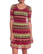 M Missoni Printed Dress - Lyst