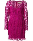 Emilio Pucci Fitted Lace Dress - Lyst
