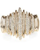 River Island Gold Tone Encrusted Cuff Bracelet - Lyst