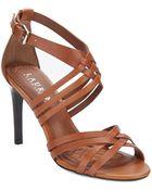 Lauren by Ralph Lauren Saba Leather Sandal Pumps - Lyst