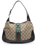 Gucci Pre-Owned Monogram Canvs Small Jackie O Bag - Lyst